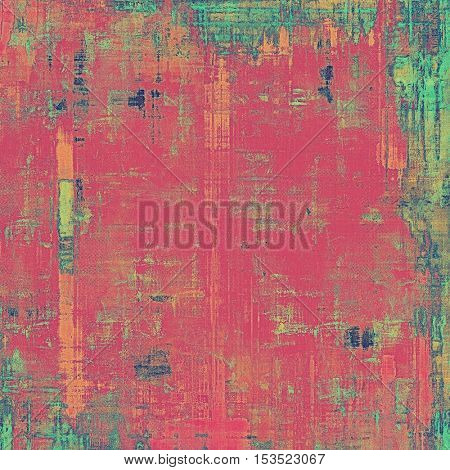 Old abstract texture used as shabby grungy background. With different color patterns: yellow (beige); green; blue; red (orange); purple (violet); pink