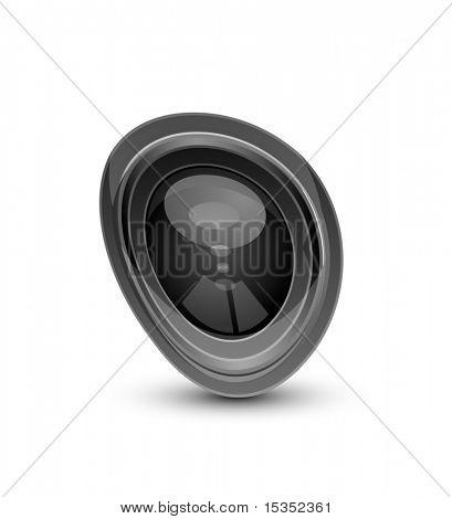 Abstract shape of camera lens