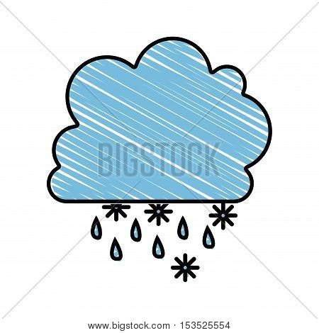 snow and cloud drawing image vector illustration design