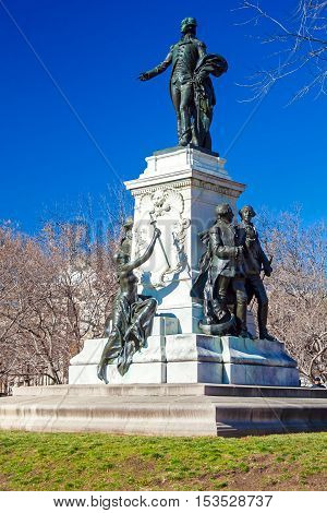 Statue Of The Marquis De Lafayette (built 1891), Washington Dc, Usa
