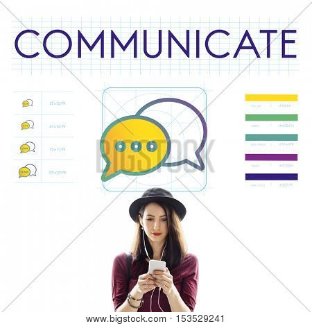 Communicate Trends Interact Connection Concept