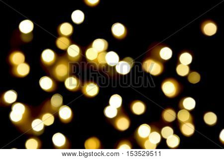yellow light bokeh with black  background,Blurred background