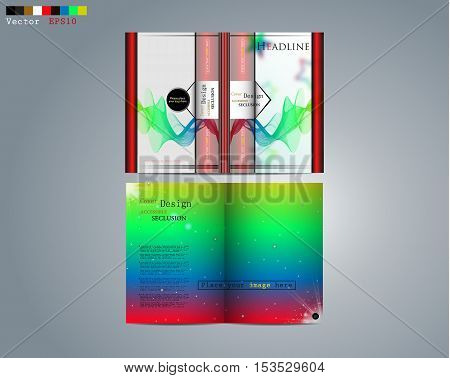 Business design of the brochure, the image of the for business.