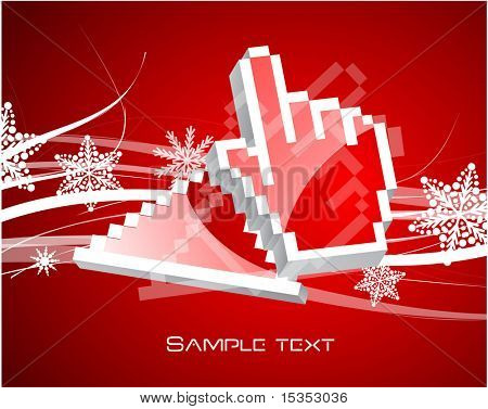 Xmas design with computer cursors