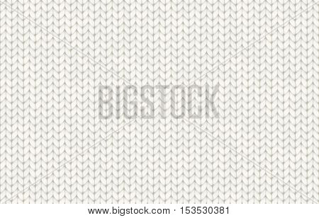 White realistic knit texture vector seamless pattern tile
