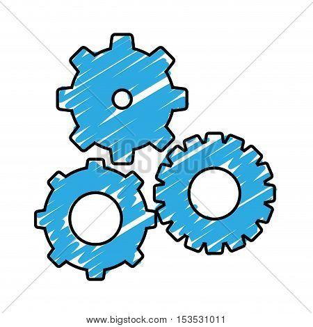 simple gears icon image vector illustration design