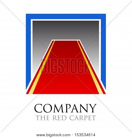 Vector logo Red Carpet. Public relations, isolated logo