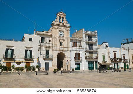 Clocktower. Sammichele di Bari. Puglia. Southern Italy.