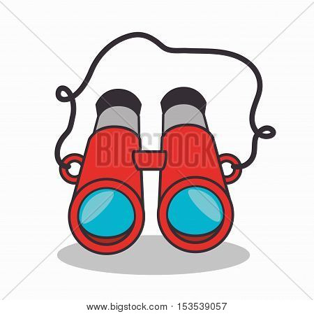 binoculars device isolated ico n vector illustration design