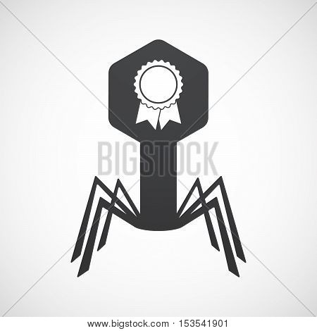 Isolated Virus Icon With  A Ribbon Award
