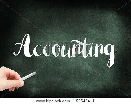 Accounting written on a blackboard