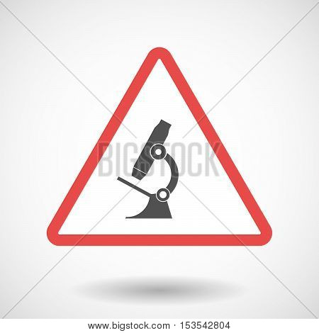 Isolated Warning Sign Icon With  A Microscope Icon