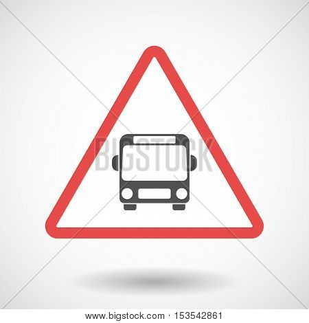 Isolated Warning Sign Icon With  A Bus Icon
