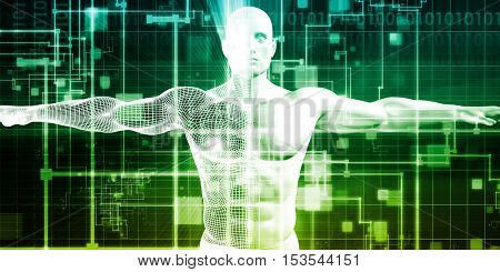 Electronic Healthcare or eHealthcare as a Software Technology 3d Illustration Render