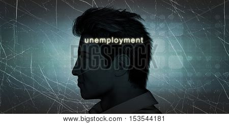 Man Experiencing Unemployment as a Personal Challenge Concept 3d Illustration Render