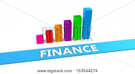 Great Finance Concept with Good Chart Showing Progress 3d Illustration Render