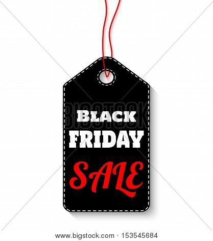 Black friday sale label on white background vector