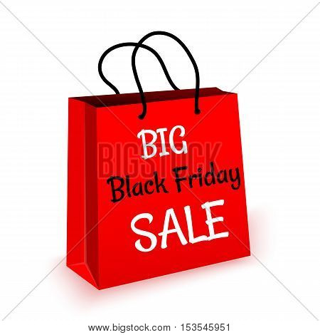 Black Friday Sale bag on white background vector