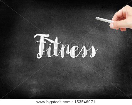 Fitness written on a blackboard