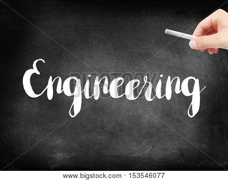 Engineering written on a blackboard