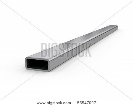 3D visualization of profile pipes on white background