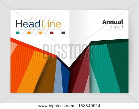 Vector triangle design abstract background, business annual report templates