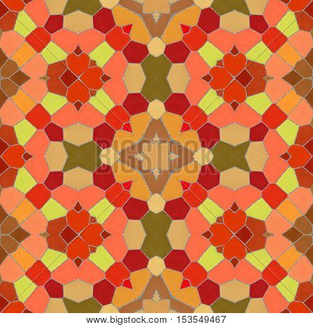 New seamless texture of abstract fabric. Arabic tile texture with geometric ornaments. Texture oriental carpets. Mosaic from glass shards.