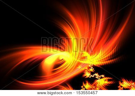 Abstract Fractal Fantastic Bright The Birth Of Fire
