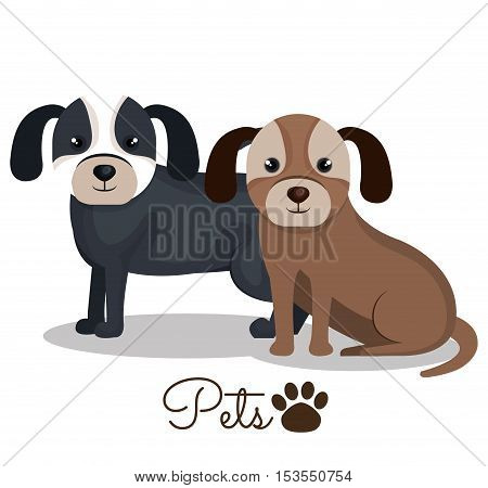 dog pet mascot isolated icon vector illustration design