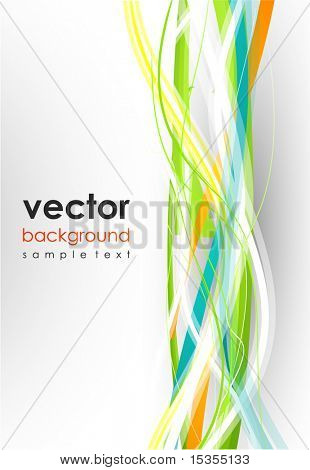 Colorful lines. Vector abstract background