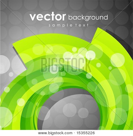 Lime swirl. Vector abstract background