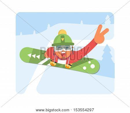 Snowboarder Man In winter ski Sportswear With Snowboard.