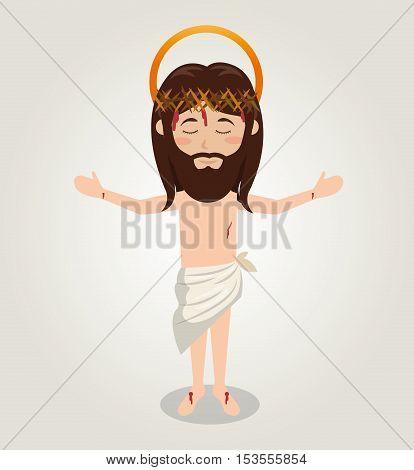 ascension jesus christ crown desing vector illustration eps 10