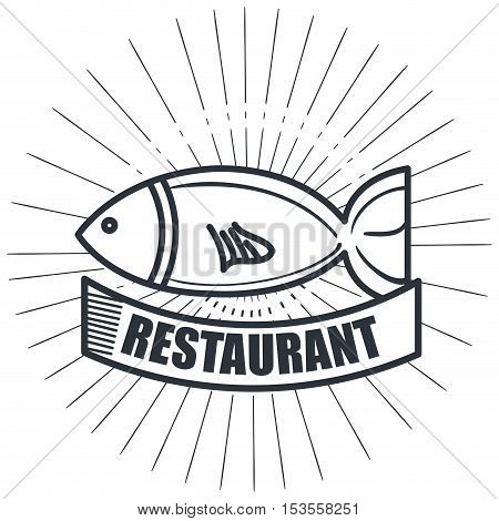restaurant seafood delicacies isolated icon design, vector illustration eps10