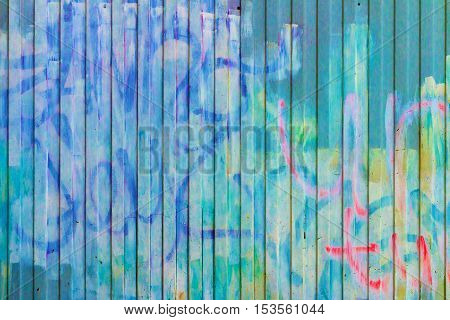 Texture Of The Old Walls With Graffiti