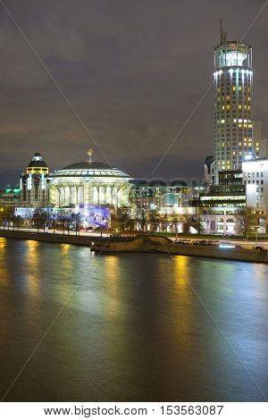 Moscow, Russia - October, 16, 2016: the house of Musical center in Moscow, Russia