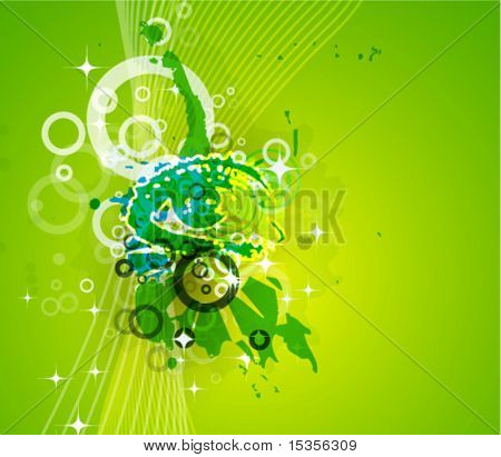 Green vector background with stylized eye