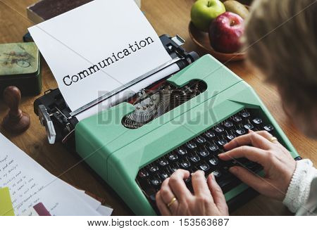 Communication Connection Typing Word Concept