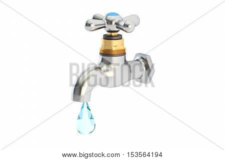 Save water concept 3D rendering isolated on white background
