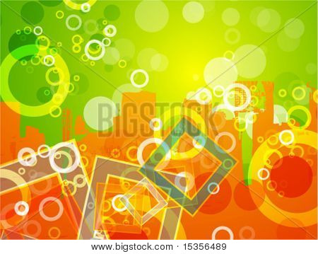 Colorful urban background