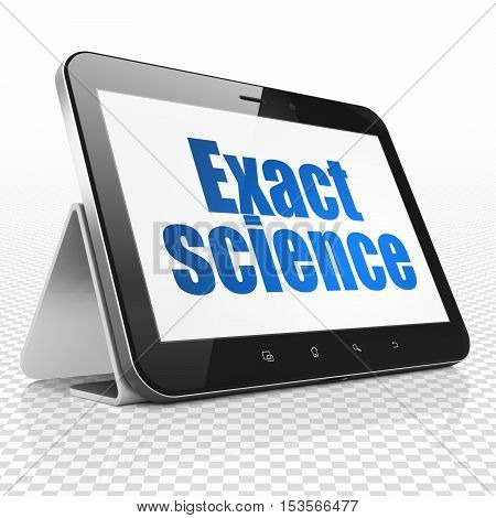 Science concept: Tablet Computer with blue text Exact Science on display, 3D rendering
