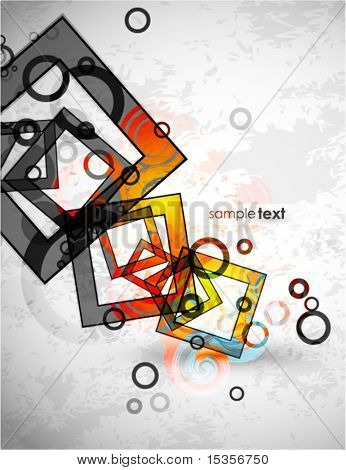 Abstract squares composition. Vector  background design