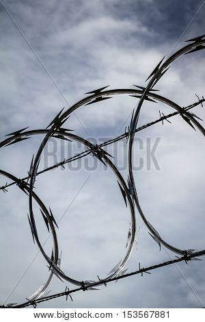 Razor Wire Close Up