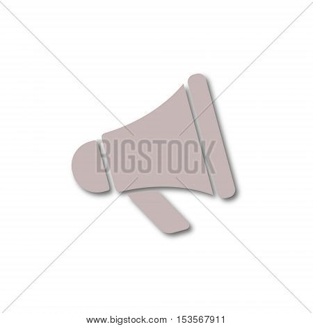 Vector Megaphone sign icon on white background