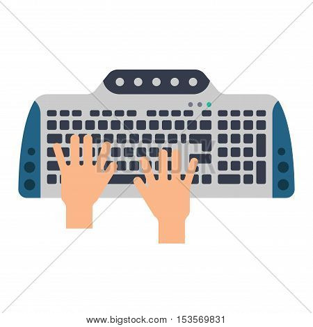 Users hands on keyboard of computer.