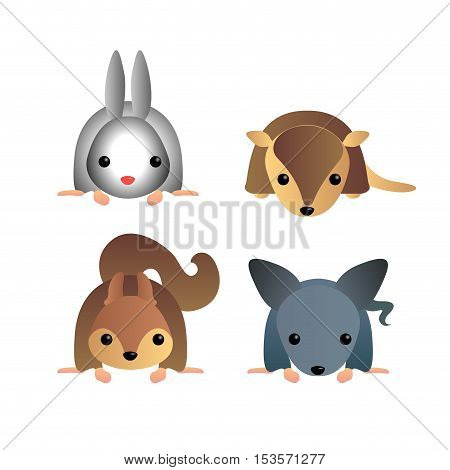 Isolated Cute Animals