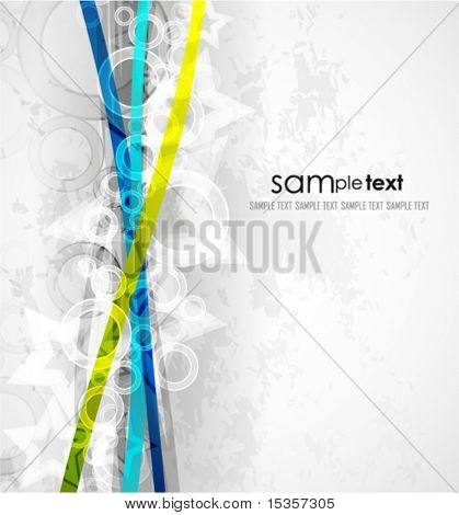 Abstract crossing lines. Vector background
