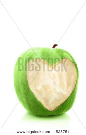 Heart Apple Green