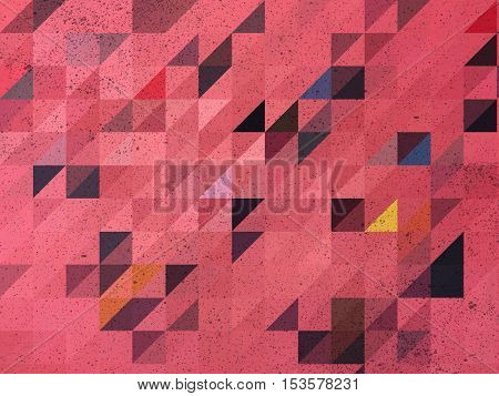 Pink and black triangle abstract background illustration