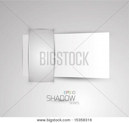 Blank commercial paper tag. Eps10 vector shadow series